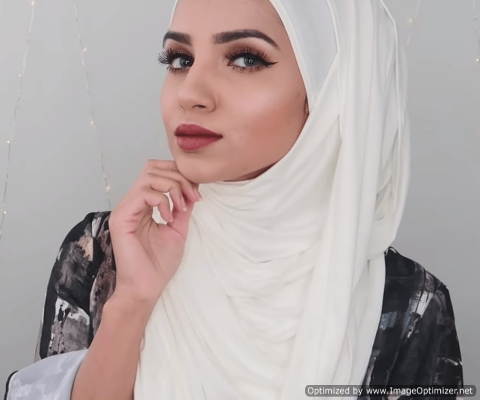Simple Hijab Style for Abaya Step by Step