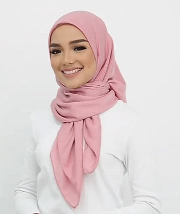 hijab how to wrap a square scarf