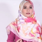 Simple Cameo Roll Hijab Tutorial - satin long hijab style
