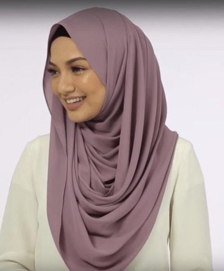 chiffon shawl hijab tutorial
