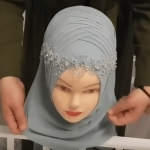 Hijab tutorial for wedding party -STEP BY STEP
