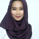 Elegant Satin Hijab Tutorial - step by step