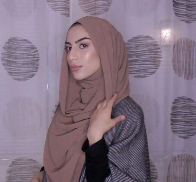 chiffon shawl tutorial simple