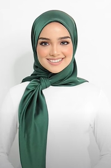 Soft And Smooth Silk Head Scarves Hijab Style