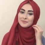 لفة حجاب تركي بسيطة للصيف