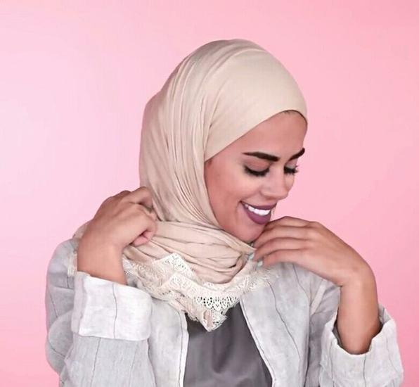 لفة حجاب للوجه الطويل