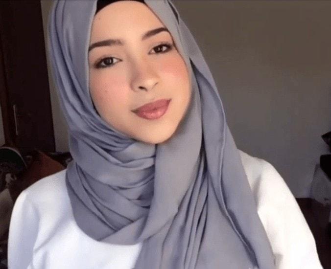 لفة حجاب للوجه البيضاوي