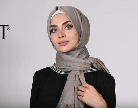 لفات حجاب للوجه الطويل