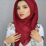 لفات حجاب - طريقة لف الحجاب الفسكوز 2