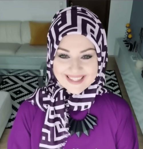 لفات حجاب للوجه البيضاوي
