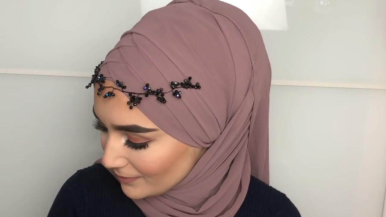 لفات حجاب للمناسبات و للأفراح
