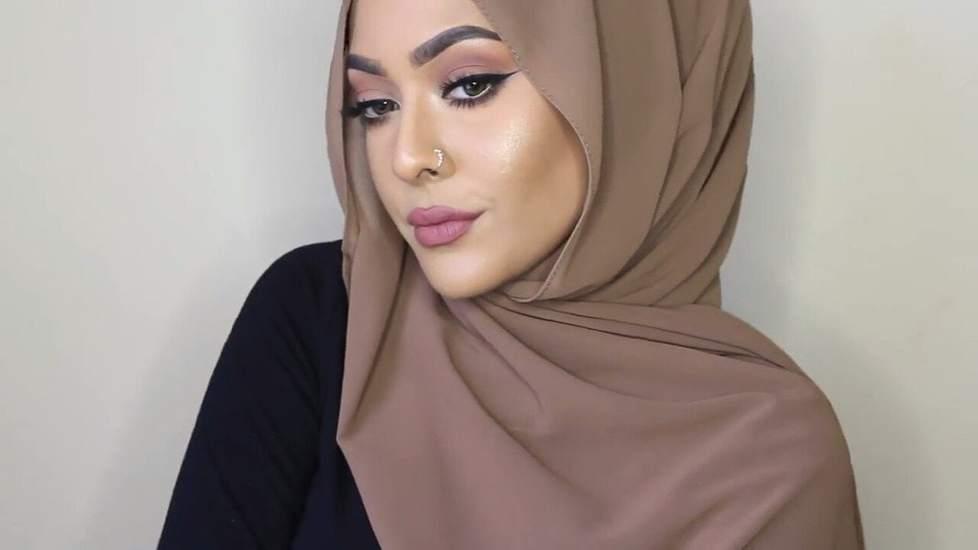 لفات حجاب شيفون