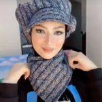 لفات حجاب التوربان التي تغطي الرقبة