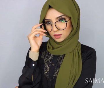 لفة حجاب شيفون للنظارات