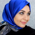 حجاب تركي - طريقة لف الاسكارف الحرير المربع 3