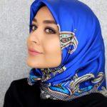 حجاب تركي - طريقة لف الاسكارف الحرير المربع 2