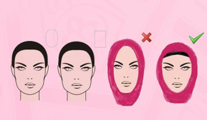 hijab styles for oval face shape