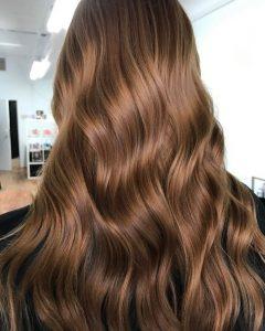 صبغة شعر بني برونزي - صبغة شعر بني عسلي