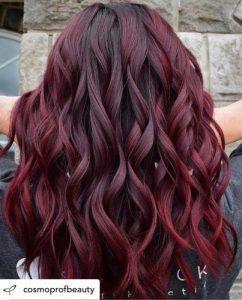 ألوان صبغة الشعر - صبغة شعر احمر غامق