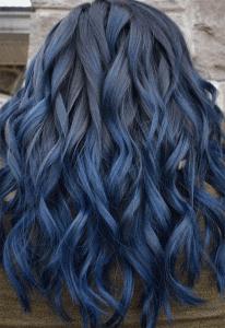 صبغة شعر ازرق رمادي