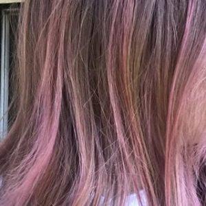 الوان صبغ الشعر بنفسجي ووردي