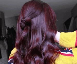 صبغة شعر بنفسجي محمر