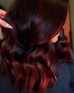 صبغة شعر احمر كرزي - ألوان صبغات شعر