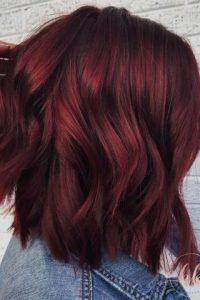 ألوان صبغات الشعر - صبغة شعر احمر غامق