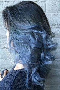 صبغ شعر ازرق رمادي
